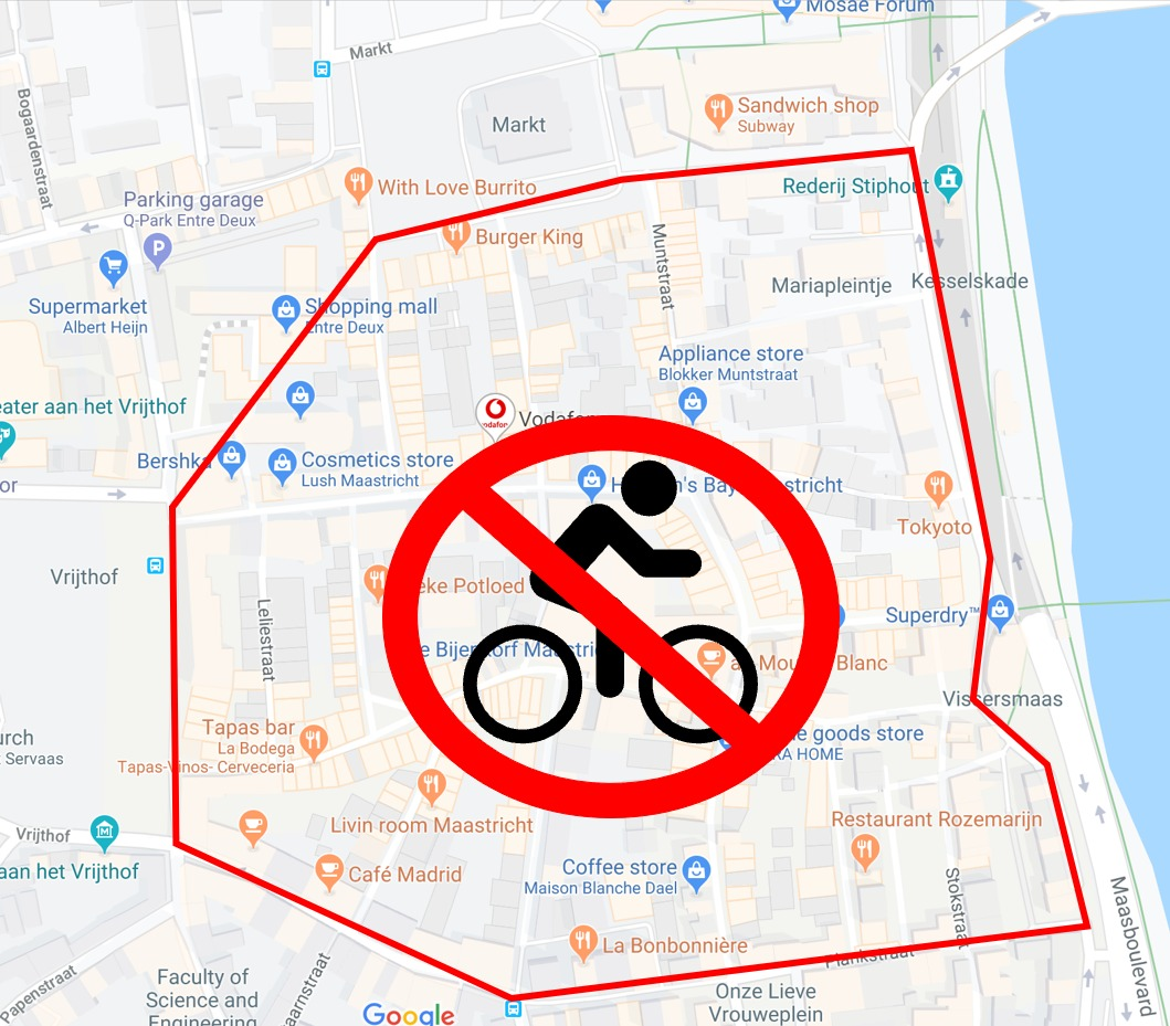 Cycling in the city centres